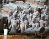 Terracotta Warriors, Xian mural wallpaper kitchen preview