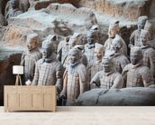 Terracotta Warriors, Xian mural wallpaper living room preview