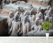 Terracotta Warriors, Xian mural wallpaper in-room view