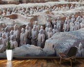 Terracotta Warriors in Xian wall mural kitchen preview