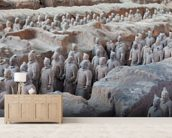 Terracotta Warriors in Xian wall mural living room preview