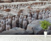 Terracotta Warriors in Xian wall mural in-room view