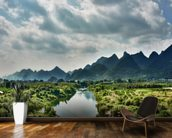 Yulong River Guilin, Yangshuo Guangxi wallpaper mural kitchen preview