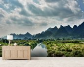 Yulong River Guilin, Yangshuo Guangxi wallpaper mural living room preview