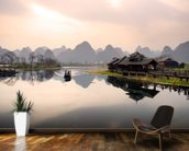 Sunrise in Yangshuo, Guilin wall mural kitchen preview