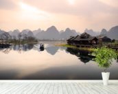 Sunrise in Yangshuo, Guilin wall mural in-room view