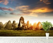 Guilin Landscape wallpaper mural in-room view