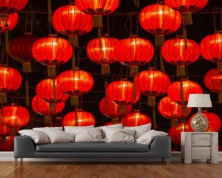 Chinese New Year Lanterns wall mural