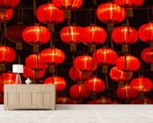 Chinese New Year Lanterns wall mural living room preview