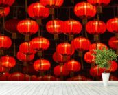 Chinese New Year Lanterns wall mural in-room view