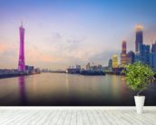 Guangzhou Skyline wallpaper mural in-room view