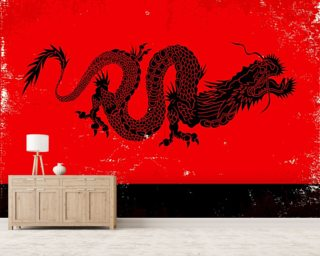 Black Dragon wallpaper mural