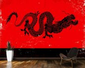 Black Dragon wallpaper mural kitchen preview