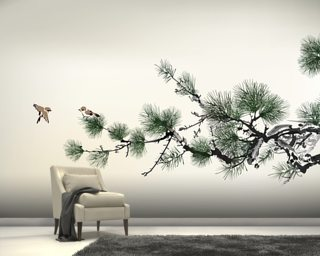 Pain Tree Wallpaper Mural Wall Murals Wallpaper