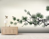 Pain Tree wall mural living room preview