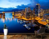 Vancouver at Night wallpaper mural kitchen preview