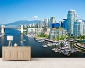 View of Vancouver wall mural living room preview