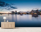 A Place on the Water, BC wall mural living room preview