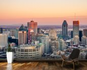 Montreal Winter Sunset wallpaper mural kitchen preview