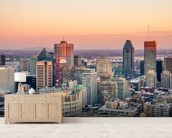 Montreal Winter Sunset wallpaper mural living room preview