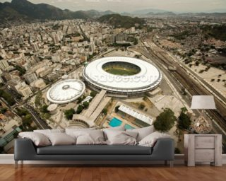 Aerial View of Maracana Football Stadium wallpaper mural