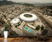 Aerial View of Maracana Football Stadium wallpaper mural kitchen preview