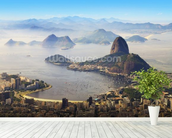 Sugarloaf Mountain mural wallpaper room setting