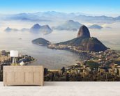 Sugarloaf Mountain mural wallpaper living room preview