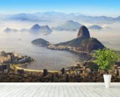 Sugarloaf Mountain mural wallpaper in-room view
