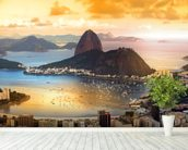 Rio De Janeiro Sunset wall mural in-room view