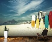 Ipanema Surfboards wall mural kitchen preview