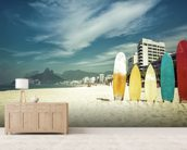 Ipanema Surfboards wall mural living room preview