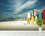 Ipanema Surfboards wall mural in-room view
