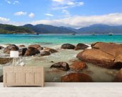 Ilha Grande Beach, Brazil mural wallpaper living room preview