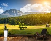 Beautiful Alpine Scenery wallpaper mural kitchen preview