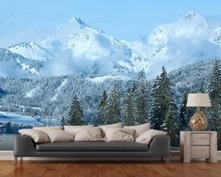 Tirol Winter Mountain Landscape mural wallpaper