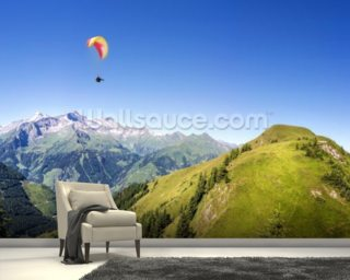 Mountain Paraglider wall mural