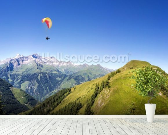 Mountain Paraglider wall mural room setting