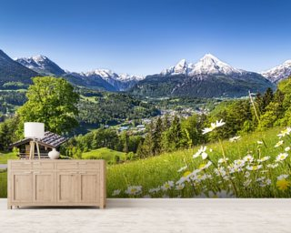Alps, Bavaria mural wallpaper