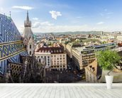 Panoramic View of Vienna wall mural in-room view