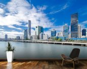 Skyline Brisbane mural wallpaper kitchen preview