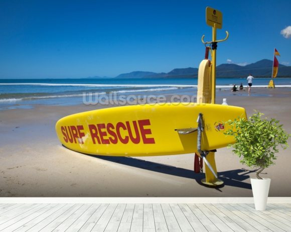 Surf Rescue wall mural room setting