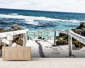 Rottnest Island mural wallpaper living room preview