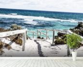 Rottnest Island mural wallpaper in-room view