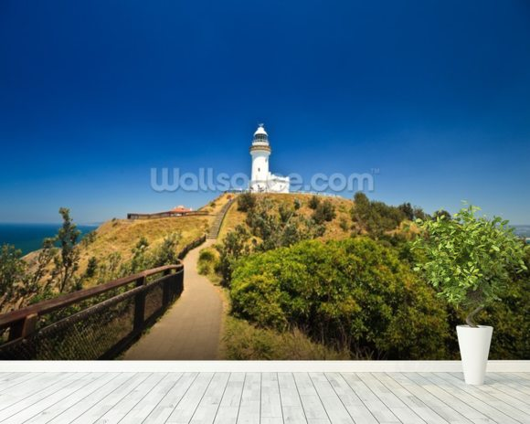 Byron Bay Lighthouse wall mural room setting