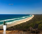 Hang Glider Over Byron Bay wallpaper mural kitchen preview