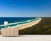 Hang Glider Over Byron Bay wallpaper mural living room preview