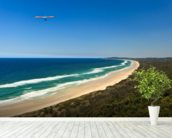 Hang Glider Over Byron Bay wallpaper mural in-room view