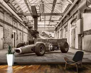 Vintage Racing Car Mural Wallpaper Part 52