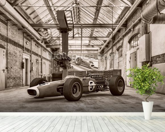 Vintage Racing Car Photo Wallpaper Wallsauce USA
